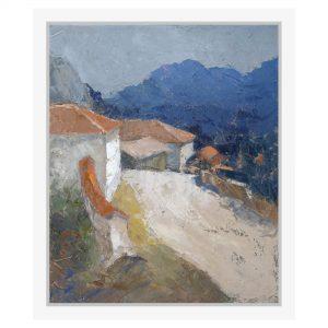 Lucrare pictata pe panza - Ziduri de cetate - Gheorghe COMAN