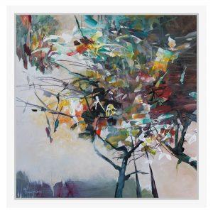 Lucrare in acrilic pe panza pictata manual - Copacul - Marinella D