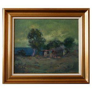 Lucrare pictata - Casa la malul marii - Gheorghe COMAN